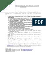 Instrukcije Za Popunjavanje Tabelarnih Prikaza i Javljanje Informacija