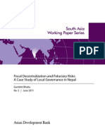 Fiscal Decentralization and Fiduciary Risks