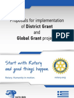 Proposals for implementation of District Grant and Global Grant projects