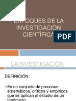 ENFOQUES DE LA INVESTIGACIÓN CIENTÍFICA OFICIAL-FILOSOFIA