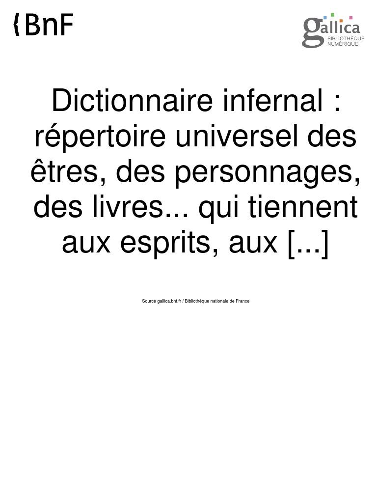 Dictionnaire Infernal Jacques A S Collin De Plancy