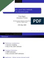 Dynamic Panel Data Methods for cross-section panels