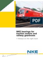 NKE Bearings for Railway