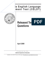 CELDT Released Questions 2008 california english language development test