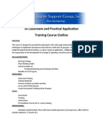 5S Classroom and Practical Application Training Course Outline
