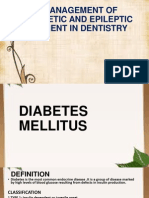 Management of Diabetic and Epileptic Patient in Dentistry