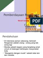 Pemberdayaan Pengamen di Indonesia