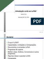 Introducao Curta Ao Latex - Adriano Cruz