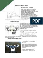 Desain Ackerman Robot Motor Ultrasoic