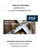 Caderno de Partituras Quaresma