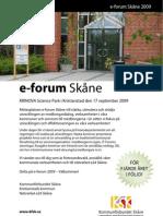 Flyer E-Forum 2009