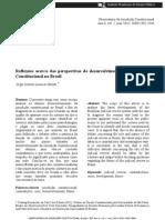 Jorge Octávio Lavocat Galvão - Reflexões acerca das perspectivas de desenvolvimento da jurisdição constitucional no Brasil