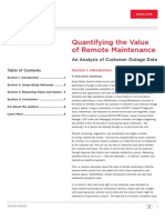 White Paper-quantifying the Value of Remote Maintenance