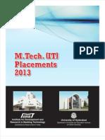 MTech IT Placements 2013