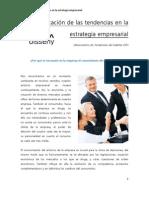 Aplicación de las tendencias en la estrategia empresarial