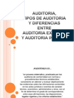 Auditoria Externa y Auditoria Interna