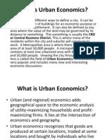 What is Urban Economics-WEEK 4-LOURDES