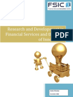 Research and Development in Financial Services and the Role of Innovation
