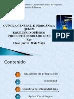 equilibrio quimicequilibrio quimico  Kps 1 sem 2013 QUI 222 [Autoguardado].ppt
