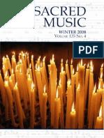 Sacred Music, CMAA, Winter 2008