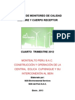 Informe Final 4° Cuarto Trimestre  2012-MOnitoreo Ambiental
