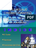 EL LENGUAJE CINEMATOGRAFICO