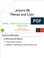L06 Menus Frames Lists 1pp