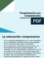PROGRAMACIÓN POR COMPETENCIAS.
