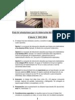 Guía de orientaciones para la elaboración del trabajo final 2013