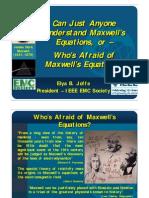 Whos Afraid of Maxwells Equations by Elya Joffe