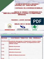 Módulo Uno  (NTC-OHSAS 18001) Mayo 12 de 2009
