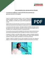 03-03-07 Captará Tamaulipas inversión de mil 200 millones de dólares