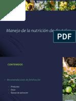 Nutrición en Frutales