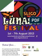 Sligo Lunasa Festival Brochure 2013