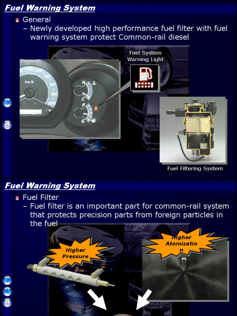 Fuel Warning System Fuels Filtration High Performance Diesel Filters