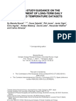 A Case-study-guidance on the Development of Long-term Daily Adjusted Temperature Dataset