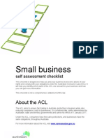 Small Business Self Assessment Checklist Word