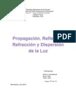 Propagación, Reflexión, Refracción y Dispersión de la Luz (Autoguardado)