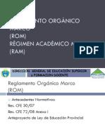 Reglamentos Organicos y Academicos Marco