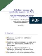 Castro y Yamada Habilidades y Acceso Educacion Superior