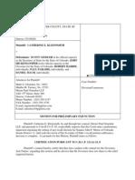 7 9 13 Motion for Prel. Injunction