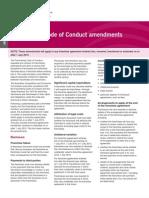 Franchising Code of Conduct Amendments Fact Sheet