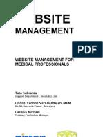 Website management for Medical Professional