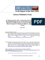 Appendices to the Mars 2020 Science Definition Team report