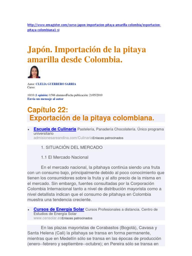 Que es la pitaya colombiana