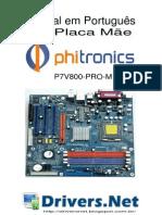 Manual Placa Mãe Phitronics P7V800PRO-M