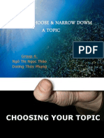 Narrowing Down Your Topic