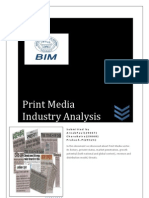 Print Media Economic and Industry analysis