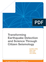 Transforming Earthquake Detection and Science Through Citizen Seismology
