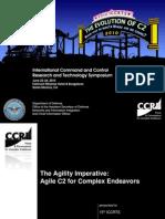 ICCRTS 15 2010 the Agility Imperative 6.16.10